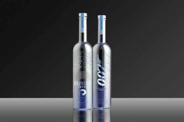 The two limited edition vodka bottles by Belvedere