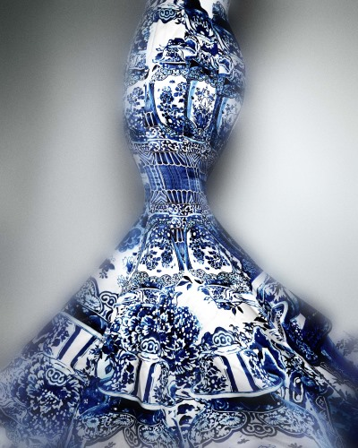 China's influence on Western fashions: Evening Dress by Roberto Cavalli, Fall 2005