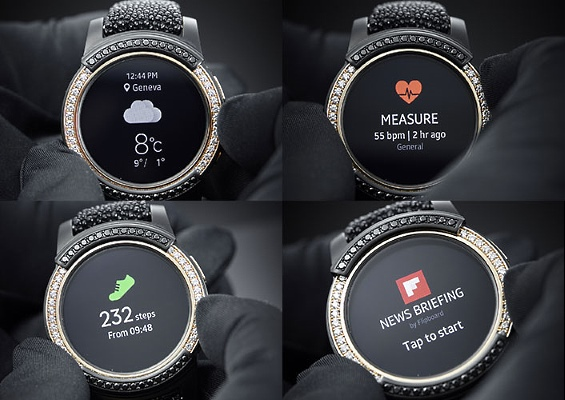 Smart watches at Baselworld: Samsung Gear S2 by de Grisogono