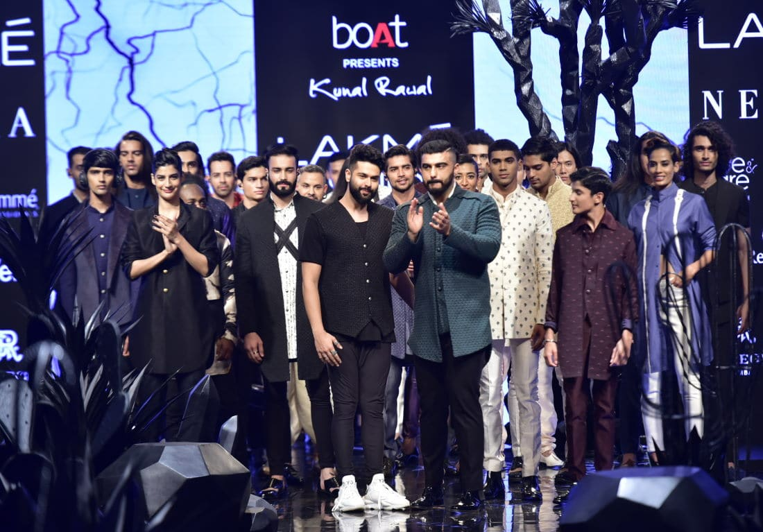 Arjun Kapoor at the Kunal Rawal show at Lakme India Fashion Week