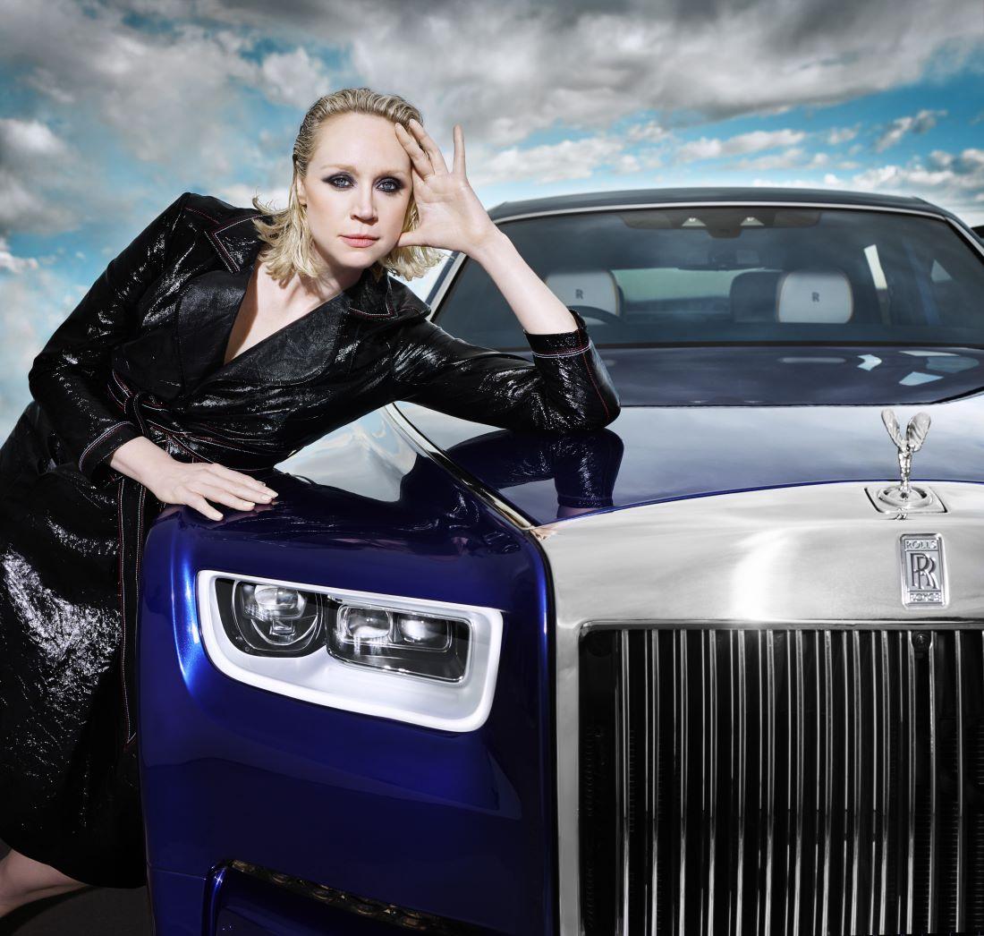 Gwendoline Christie with the Rolls-Royce Phantom