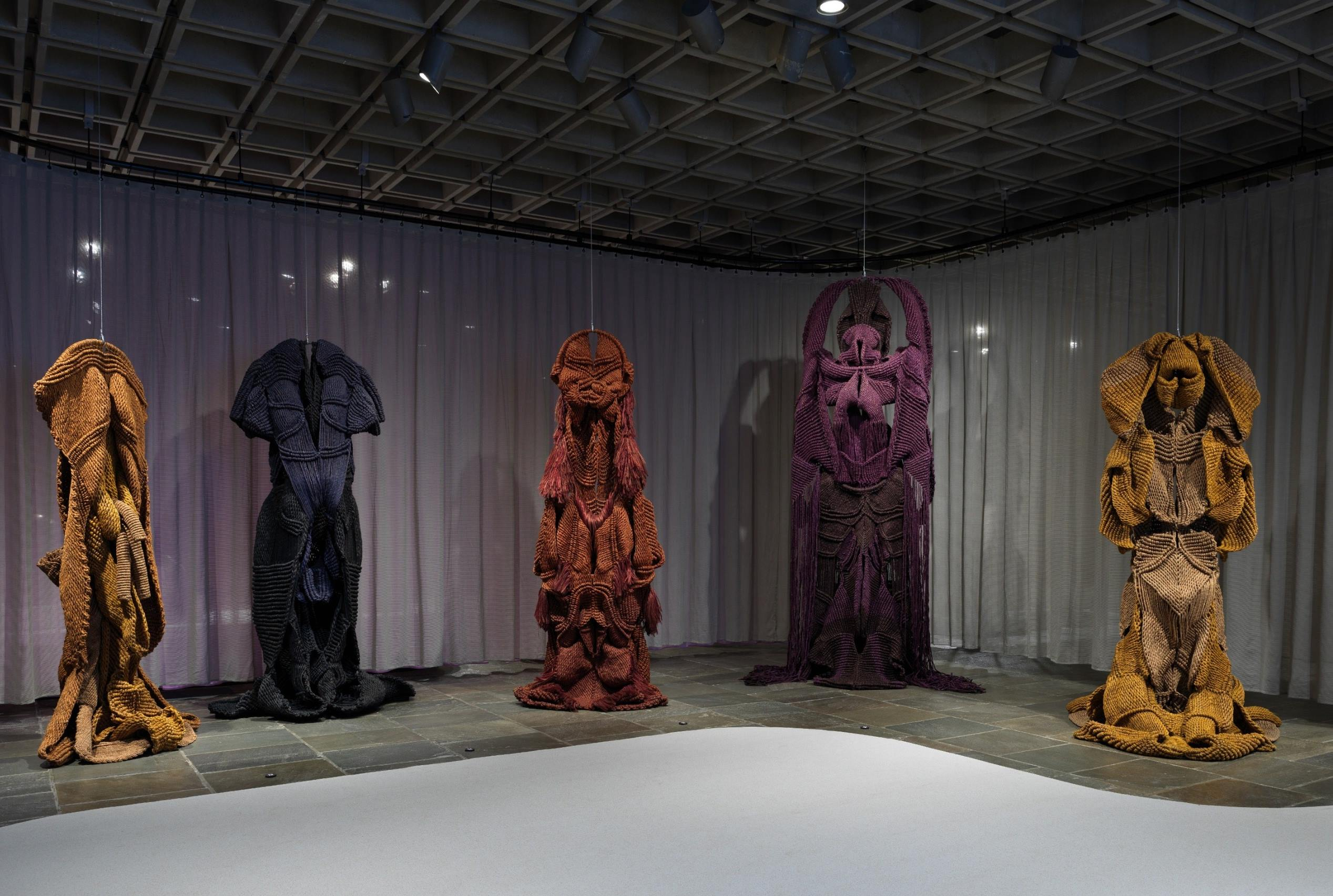 Installation view of Phenomenal Nature, Mrinalini Mukherjee at The Met Breuer, 2019. Courtesy The Metropolitan Museum of Art.