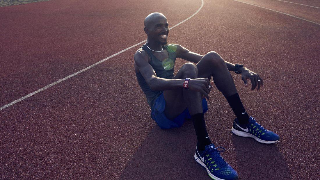 Mo Farah in Nike Pegasus