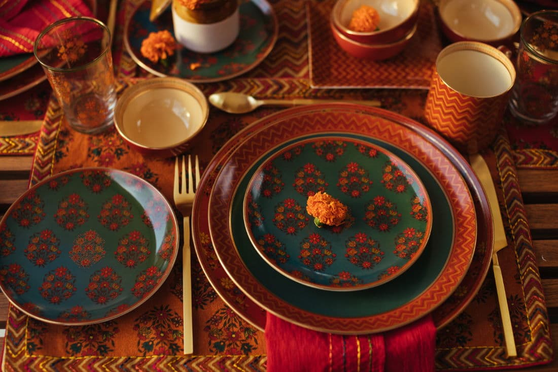 Table ware from Ritu Kumar Home