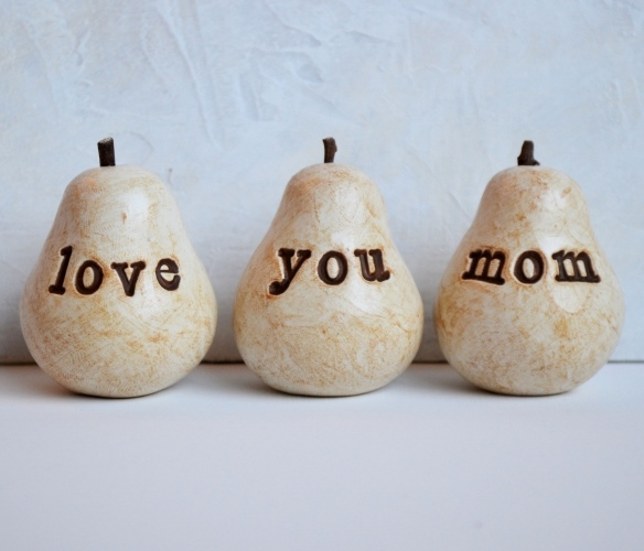 Tell mom you love her with these Pears by Etsy