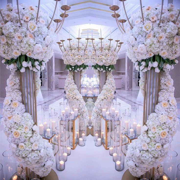 White and Gold Luxury Flower Arrangements