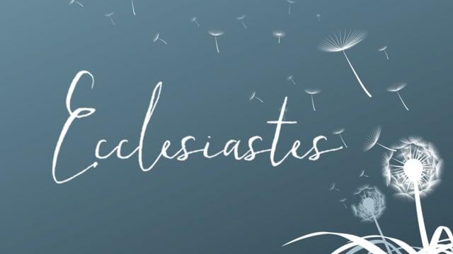 Ecclesiastes 1:1-11