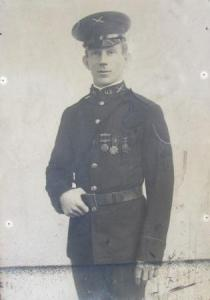 Photo of author's grandfather in WWI.
