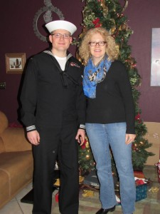 Katrina Shawver and Navy son