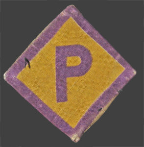 Badge Polish forced laborers were made to wear