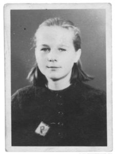 Young Polish Girl in Forced Labor
