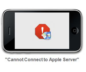 Cannot Connect to Apple Server