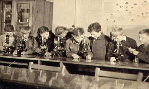 first microscope