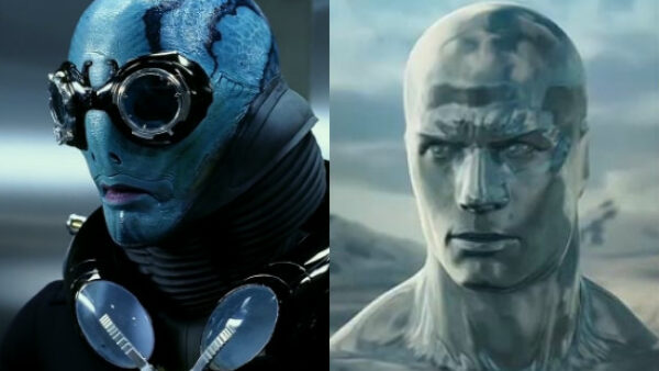 Doug Jones as Abe Sapien and Silver Surfer
