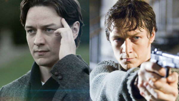 James McAvoy as Professor X and Wesley Gibson