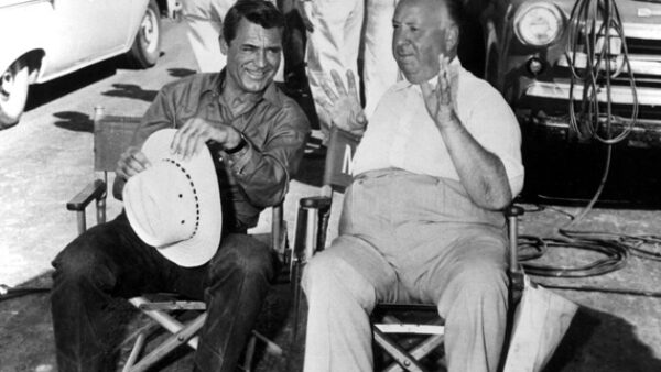 Cary Grant and Alfred Hitchcock