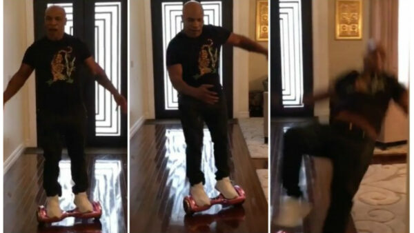 mike tyson hoverboard fail