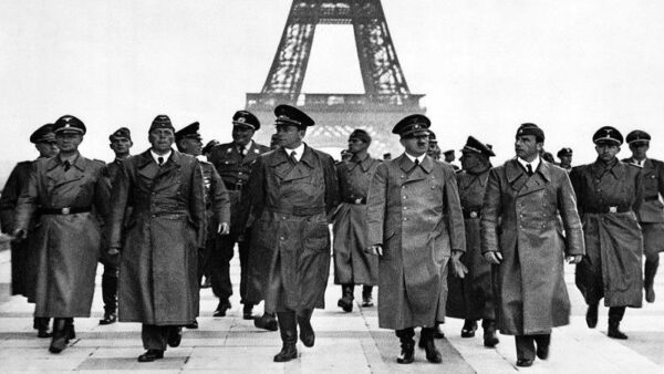 When the French soldiers surrendered after a heavy battle that lasted six weeks, Hitler danced a Jig and was captured on camera