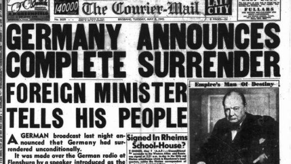 Germany surrenders world war 2