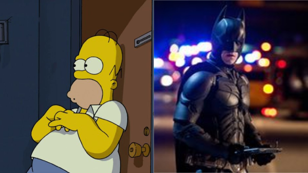 The Dark Knight Rises And The Simpsons Movie