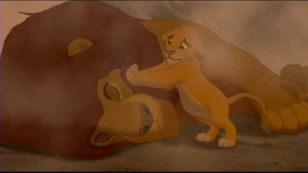 the lion king 1994 mufasa death scene