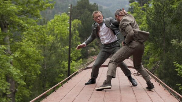 Train Fight Skyfall