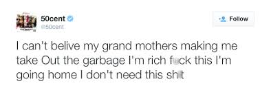 50 Cent complained about his grandmother