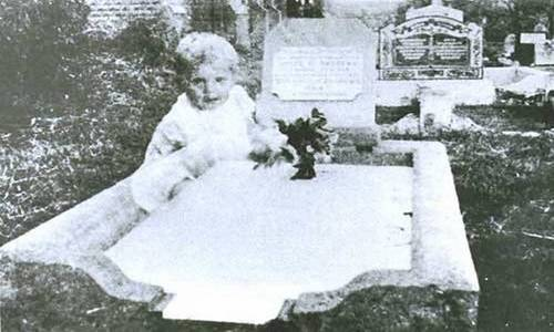 Ghost Baby on a Grave