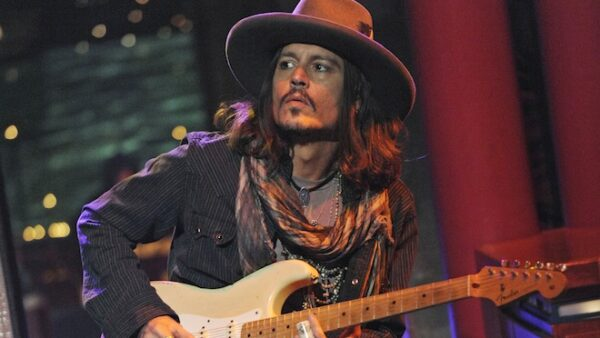 Johnny Depp Playing Guitar