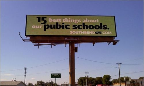 South Bend Public Schools spelling mistakes