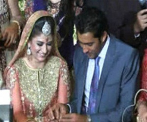 Aisam-Ul-Haq & Faha Akmal Makhdum Engagement Ring Ceremony