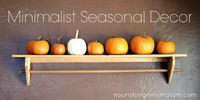 Minimalist seasonal decor