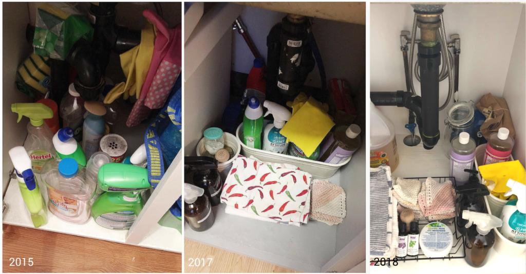 processus désencombrement, produits nettoyage minimalistes