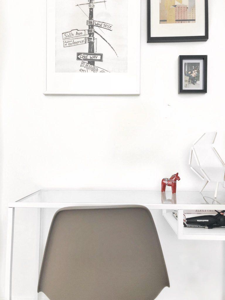 espace bureau ikeam ikea desk, home decor, minimalist