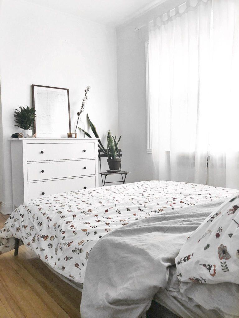 décoration, home decor, ikea, commode, lit, simple