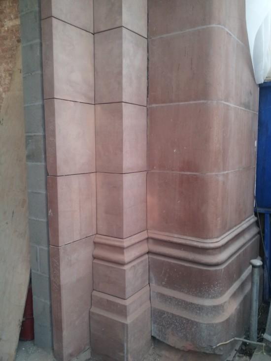 Corbin Building 1 Red Sandstone from Utah