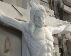 St. Pious Marble Crucifix