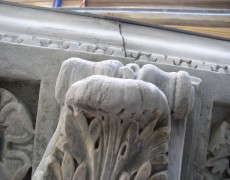 Carved Limestone Mantle and Fireplace