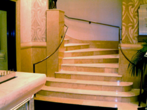 Petrillo Stone steps project at the Benjamin Hotel in New York
