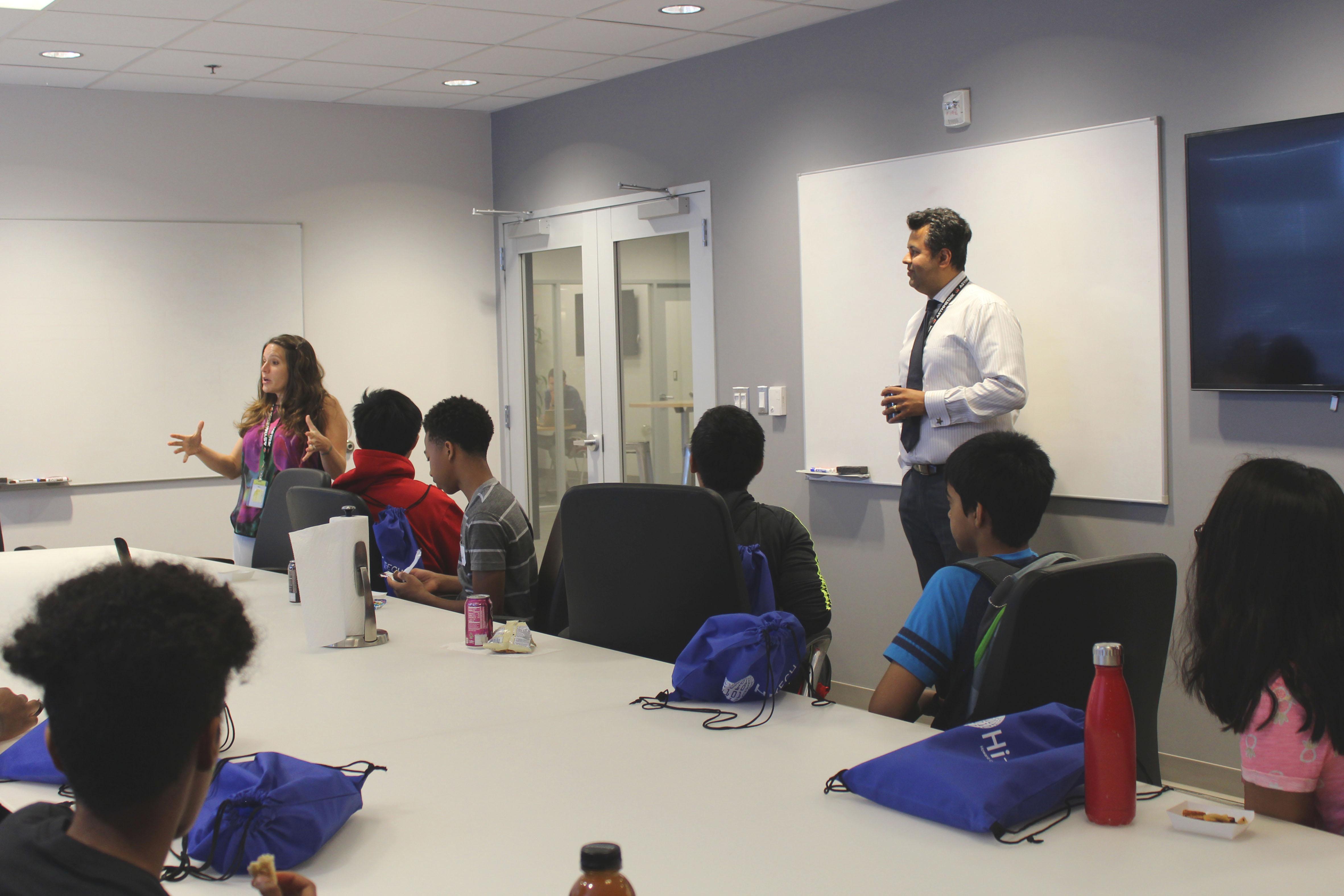 HiTech students from Howard County Library System visit Asymmetrik's office