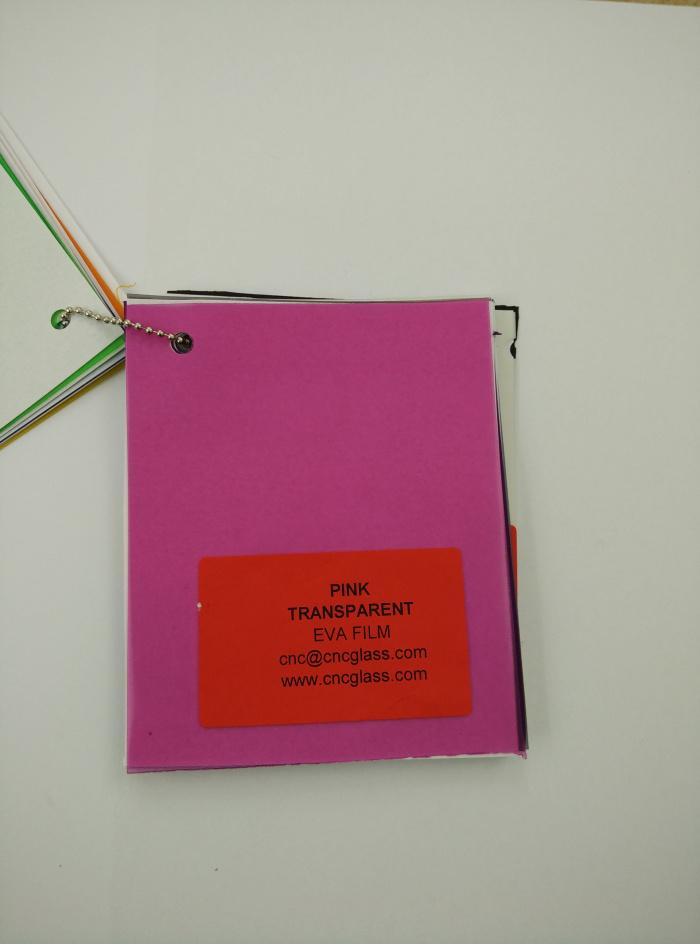 Pink EVAVISION transparent EVA interlayer film for laminated safety glass (11)