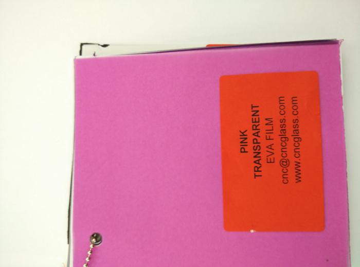 Pink EVAVISION transparent EVA interlayer film for laminated safety glass (13)