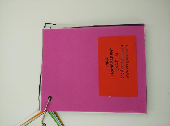 Pink EVAVISION transparent EVA interlayer film for laminated safety glass (18)