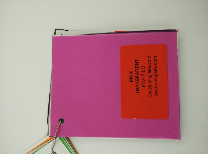 Pink EVAVISION transparent EVA interlayer film for laminated safety glass (19)