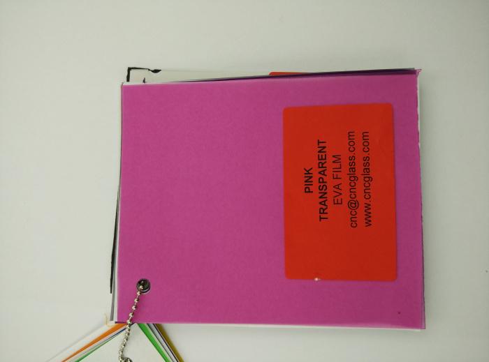 Pink EVAVISION transparent EVA interlayer film for laminated safety glass (20)