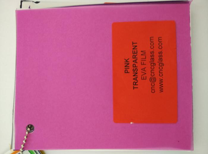 Pink EVAVISION transparent EVA interlayer film for laminated safety glass (27)