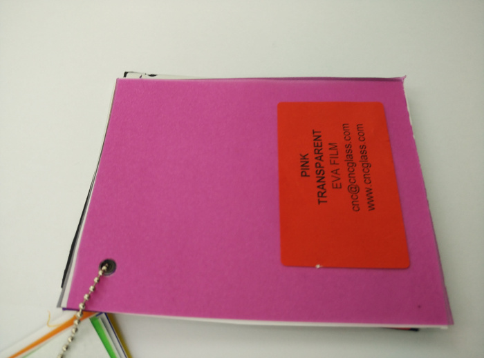 Pink EVAVISION transparent EVA interlayer film for laminated safety glass (34)
