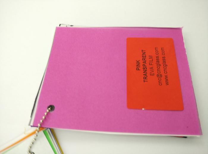 Pink EVAVISION transparent EVA interlayer film for laminated safety glass (37)