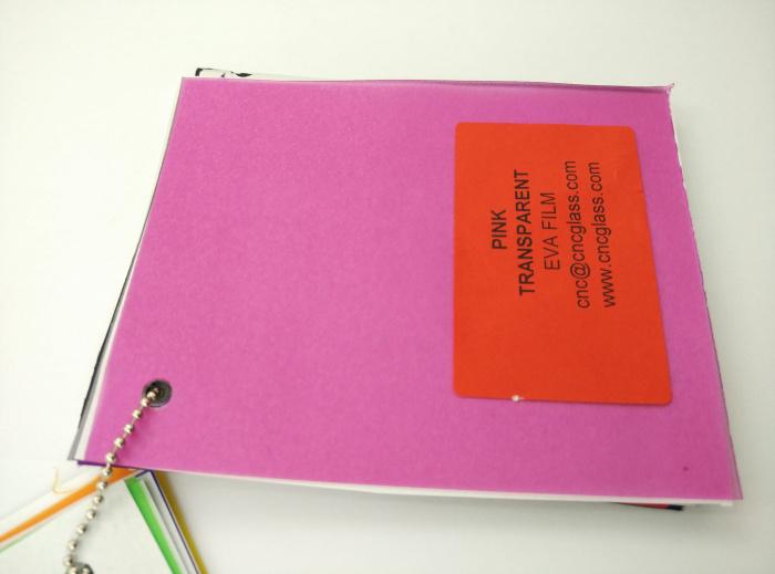 Pink EVAVISION transparent EVA interlayer film for laminated safety glass (39)