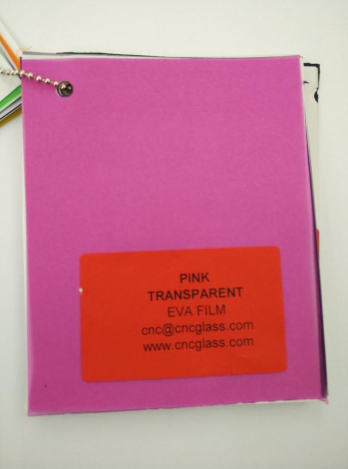 Pink EVAVISION transparent EVA interlayer film for laminated safety glass (5)